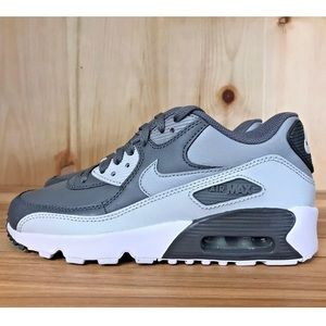 NIKE AIR MAX 90 LTR GREY WHITE SHOES WOMENS
